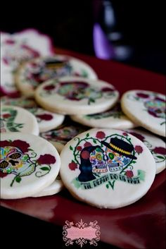 Dia de Los Muertos cookie day of the dead wedding