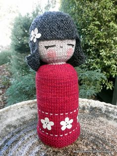 Kokeshi Doll Knitting Pattern : 1000+ images about patterns written by me on Pinterest Pattern library, Gol...