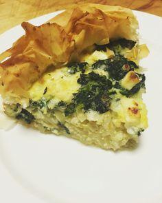 Spinach & onion tart.