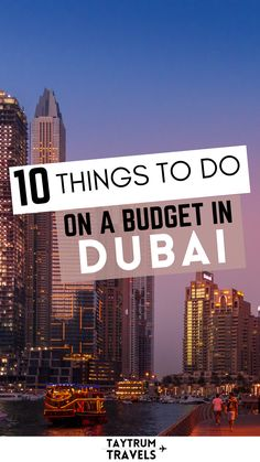 #budgetfriendly ways to fill your days in this incredible city for travel. From Old Dubai to the Burj Khalifa, there are plenty of cheap options to explore the city #travelbackpackers Budget Travel, Travel Ideas, Travel Inspiration, Travel Tips, Middle East Destinations, Travel Destinations, Dubai Activities, Famous Buildings, Dubai Mall
