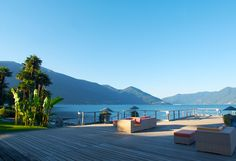 Pontile at Lago Maggiore - Hotel Eden Roc in Ascona World Most Beautiful Place, Beautiful Places To Visit, Places To See, Hotel Eden, Hotels, Deco Design, Outdoor Fun, Around The Worlds, Golf