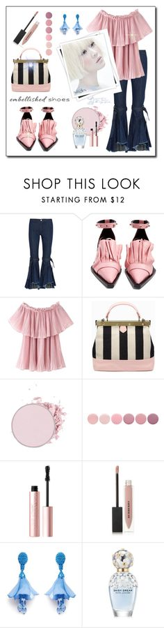 """Magic Slippers: Embellished Shoes"" by susans-sg ❤ liked on Polyvore featuring Maggie Marilyn, Marques'Almeida, Tammy & Benjamin, GALA, Deborah Lippmann, Too Faced Cosmetics, Burberry, Oscar de la Renta, Marc Jacobs and embellishedshoes"