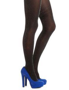 Lurex Sparkle Fashion Tight: Charlotte Russe