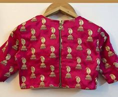 Jhumka motif embroidered raw silk blouse -:) 03 February 2017