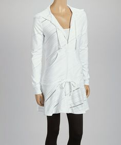 Another great find on #zulily! White Collezione Zip-Up Hoodie by FILA #zulilyfinds