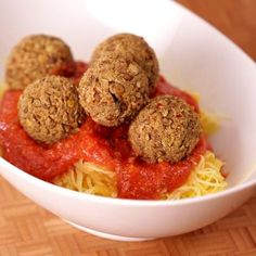 Lentil meatballs with spaghetti squash.....Come explore the world of gluten free foods as our chefs share their diverse visions and backgrounds to create easy-to-prepare versions of your favorite foods.