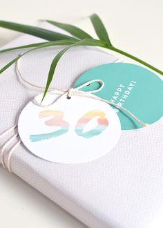 Printable age birthday gift tags   Make and Tell