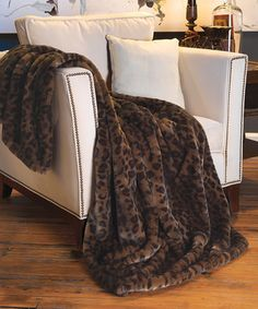Panther Faux Fur Couture Throw