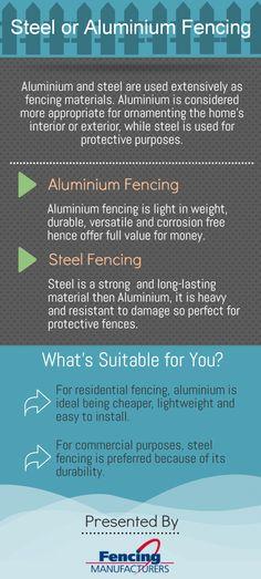 Steel or Aluminium Fencing Infographic