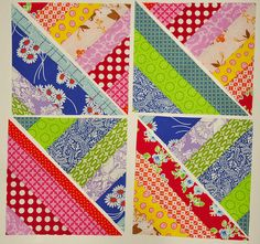 More stashbusting another string quilt ... you could easily get secondary patterns...
