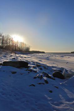 Frozen Liard River in November 2012 Northwest Territories, British Columbia, North West, Alaska, November, Frozen, Canada, River, Beach