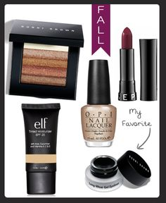 Perfect items for fall makeup