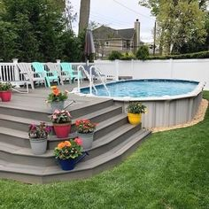 Oval Above Ground Pools, Best Above Ground Pool, In Ground Pools, Deck Ideas For Above Ground Pools, Rectangle Above Ground Pool, Above Ground Swimming Pools, Above Ground Pool Landscaping, Backyard Pool Landscaping, Backyard Pool Designs