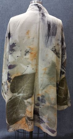 Eco dyed recycled Silk coat designer made by PerennialImpressions
