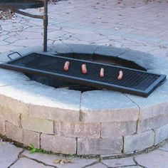 24 Inch Heavy Duty Steel Rectangle Fire Pit Cooking Grill Grate Camping Firepit