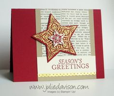 Stampin' Up! Holiday Catalog Sneak Peek: Bright & Beautiful stamp set + Star Framelits #stampinup
