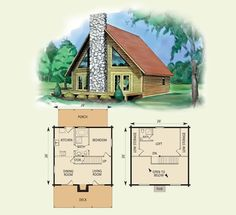 log cabin floor plan with loft floor plan inspiration - Cabin Floor Plans
