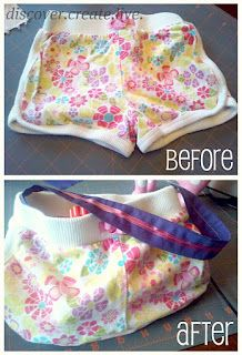 Shorts to purse- could also use jeans...so cute for little girls!