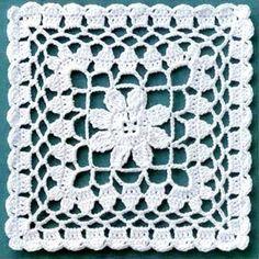 Risultati immagini per muestras o pastillas a crochet Crochet Blocks, Granny Square Crochet Pattern, Crochet Stitches Patterns, Crochet Chart, Crochet Squares, Thread Crochet, Crochet Granny, Crochet Motif, Crochet Designs