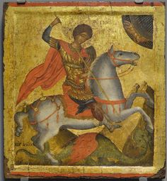 St George. 2nd quarter of the 15th c. Angelos Akotandos. Benaki museum, Athens.