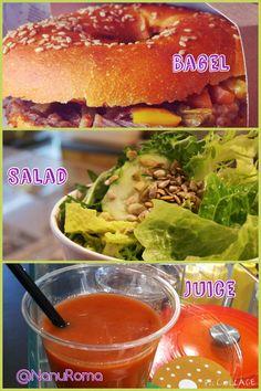 #Bagel #salad #juice  @NanuRoma  www.nanubagelbr.it