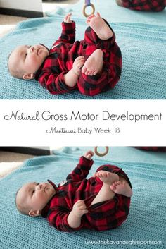 The freedom of movement is an important tenant of Montessori. Natural gross motor development allows children to move freely from birth.