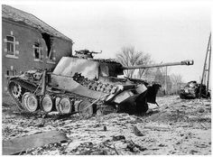 A burned out Panther Ausf G that experienced a violent end to it's combat career.