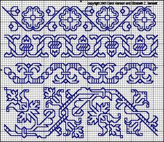 Blackwork patterns, a few more cross stitch patterns scattered on the site