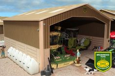 Single Bay Shed - Small Brushwood Basics Diorama, Cow House, Farm Shed, Farm Toys, Toy Trucks, Wooden Walls, Scale Models, Farmer, Outdoor Structures