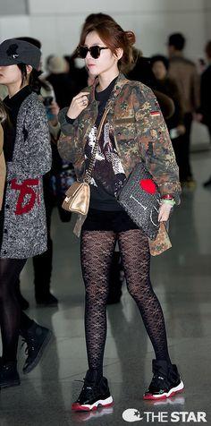 Kpop Fashion | KARA Goo Hara Airport Fashion GDA