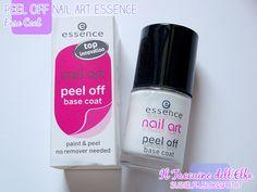 Peel Off Base Coat Nail Art @essence cosmetics