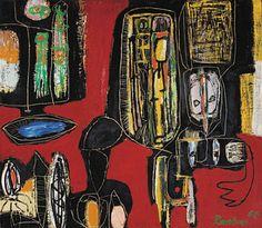 Anton Rooskens (1906-1976) was een Nederlands kunstschilder. Als schilder was hij autodidact. Hij was een van de oprichters van de Experimentele Groep in Holland, welke later opging in de Cobra-beweging. Rooskens was slechts korte tijd betrokken bij Cobra. Van de Cobra-schilders was hij de enige met een vaste betrekking, zodat hij zijn medebroeders zoals Karel Appel en Corneille van verf en doeken kon voorzien.