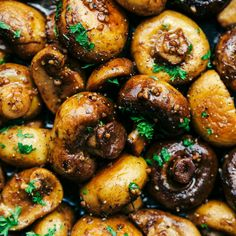 Honey Balsamic Garlic Mushrooms