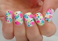 Girly neon nails