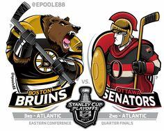 Just a bunch of artwork. Hockey Shot, Hockey Teams, Hockey Stuff, Nhl Logos, Sports Logos, Wild Hockey, Stanley Cup Playoffs, Boston Bruins, Cool Cartoons