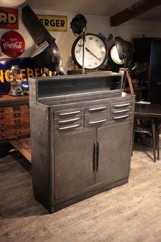 meuble de metier industriel ancien deco loft