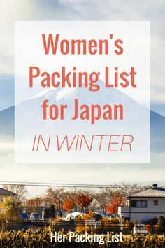 In the winter, Japan can get really cold, especially if you're traveling close to the water in the north. You'll want to pack plenty of warm items, but make sure you can layer well, as the Japanese like to keep it really warm inside.