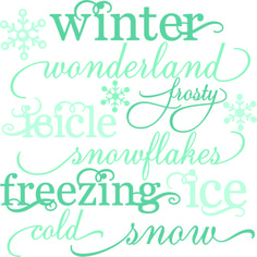 winter words set