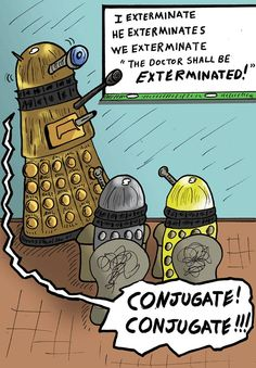 Dalek Grammar School. I don't usually think Daleks are cute, but baby Daleks are kind of adorable :)