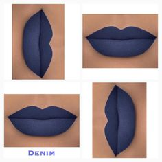 DOPEST Matte Navy Blue liquid lipstick ever made!!! Her name is...