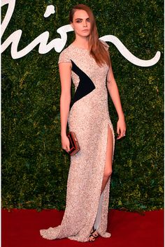 Cara Delevingne wearing Burberry at British Fashion Awards 2014 |