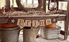 Primitive SPRING BANNER PRIMS Garland