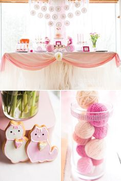 ADORABLE! Pink Kitty Cat Birthday Party via Hostess With The Mostess