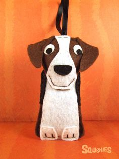 Felt Dog Ornament, Felt Beagle, Holiday Ornament, Christmas Decoration - Barclay the Beagle