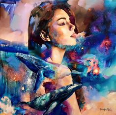 Artista de 16 anos cria incríveis pinturas surrealistas.
