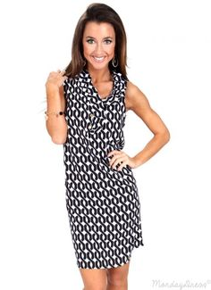 Wild Young Hearts Black And White Ruffle Dress | Monday Dress Boutique