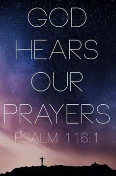 God hears our prayers. The eyes of the Lord are on the righteous and his ears are attentive to their cry. Psalm To You must vows be fulfilled, You who hear prayers. Biblical Quotes, Prayer Quotes, Bible Verses Quotes, Bible Scriptures, Spiritual Quotes, Faith Quotes, Favorite Bible Verses, Jesus Freak, I Love Jesus