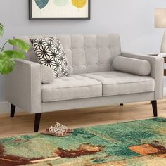 Price Check Morre Loveseat By Zipcode Design Living Room Sofa, Living Room Furniture, Living Room Decor, Living Area, Leather Loveseat, Soft Seating, Upholstered Sofa, Best Sofa, Elle Decor