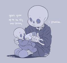 Sans and Papyrus Baby Bones | Tumblr