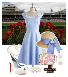 """Derby Day"" by poloandpearls ❤ liked on Polyvore"
